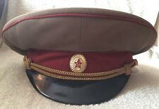 Vintage Soviet Hat Russian Military Visor USSR Cap Army Badge Uniform soldier