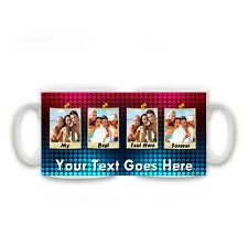 Personalised Photos & Text My Best Text Forever Mug, Family, Friends, Size 11oz.