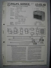 Philips LD452AB Kofferradio Service  Manual Ausgabe 05/55 inkl. Umbauanleitung..