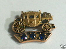 Fisher Body GM Employee Service Award Pin 3 Sapphires Old style 10k (1101empl)