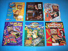 Lot Of (6) ORIGINAL PINBALL MACHINE  FLYERS Harley Family Guy NGG PZ Set  #27