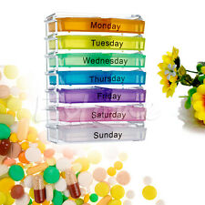 7 Days Holder Weekly Medicine Storage Organizer Case Container Tablet Pill Boxes