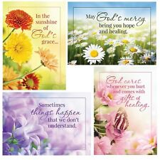 Christian Get Well Cards Sunny Wishes (KJV Scripture) G2034 Boxed Greeting Cards