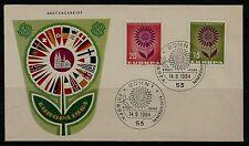 BRD FDC MiNr 445-446 (1a) l'Europa (CEPT) 1964-Associazione-confederazione di Stati-politica -