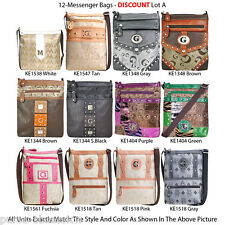 Wholesale Lot - 12 Women's Messenger Bag - Vintage G-Style Designer Handbags