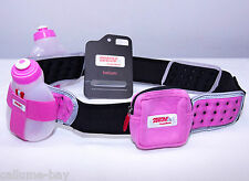 "FuelBelt Helium 2 Bottle Hydration Belt Pink Size XL 36-38"" Triathlon Fuel Belt"
