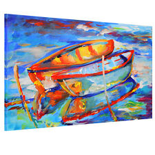 HD Canvas Print Home Decor Wall Art Painting Picture-Boat on the Lake Unframed#3
