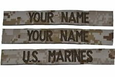 3 Piece USMC Name Tape Set  (sew-on) - Desert Marpat Coyote Brown
