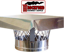 """6"""" Stainless Steel Chimney Top Rain Cap with Wind Guard"""