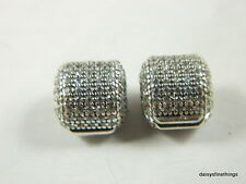 NEW! AUTHENTIC PANDORA CHARM  PAVE BARREL CLIPS (SET OF 2)  #791873CZ HINGED BOX