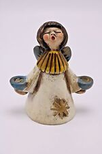Vtg Thun Bolzano Engel Singing Angel Ceramic Pottery Figurine Xmas Candle Holder