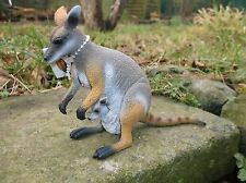 Large Australian replica model ROCK WALLABY 'Science and Nature ' figurine