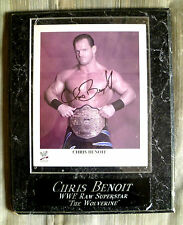 CHRIS BENOIT signed photo on wood Firma foto WWE Raw superstar WOLVERINE dead