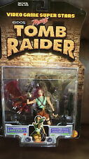 LARA CROFT TOMB RAIDER VIDEO GAME SUPERSTARS TOY BIZ 1997 NOC FIGURE