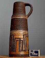 TALL 12'' Vintage 60-70's KRÖSSELBACH FAYENCE Vase Jug German Pottery Fat Lava E