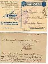 Cartolina Postale Forze Armate Regio Esercito viaggiata verso Termini Imerese PA