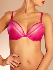 BRAND NEW TAG Chantelle Vous et Moi Plunge T-Shirt Bra 2122 TYRIAN PINK 36DD $74
