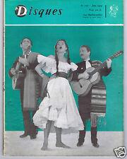 LA REVUE DISQUES No 110 OCTOBRE JUIN 1959 LOS MACHUCAMBOS
