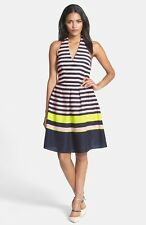 NEW TED BAKER LONDON 'Candy Bar Stripe' Print DRESS SIZE 2 (6) $325 MULTI COLOR