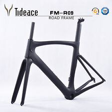 Carbon Bicycle FrameFork + Seatpost + Clamp UD matt Carbon Road Bike Frame 58cm