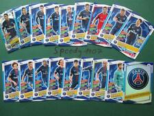 Topps Champions League 2016 17 all 18 Paris Team Cards Logo Goal King