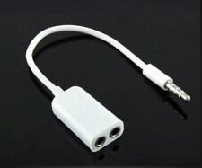 DUAL 3.5MM JACK STEREO HEADPHONE earphone ADAPTER Splitter FOR iphone ipad ipod