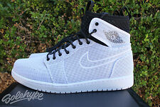 NIKE AIR JORDAN 1 HIGH ULTRA QS SZ 8 WHITE GOLD BLACK PURE PLATINUM 844700 132