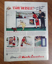 1950 Kelvinator Kitchen Appliances Ad Range Refrigerator Freezer Water Heater