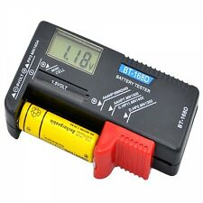 BT-168D ABS Digital Battery Tester for Button Cell AA/9V/C Voltage Batteries