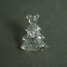 Clear Plastic Christmas Tree with Mickey Head Topper TDL Tie Tac Disney Pin