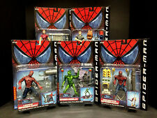 2002 TOY BIZ SPIDER-MAN MOVIE SERIES 2 5 FIGURE SET GREEN GOBLIN W/ GLIDER D63
