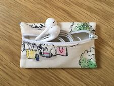Handmade Earphone Earbud Case Made With Cath Kidston Billie Goes To Town Fabric
