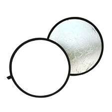 """24"""" inch 60cm Light Collapsible Reflector diffuser For photography studio Silver"""