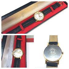 Omega Uhr Handaufzug Herrenuhr Armbanduhr Uhr funktionsfähig mit Lederarmband