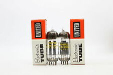 2 X 6350 TUBE UNITED ELECTRON BRAND. MATCHED PAIR D GETTER. CRYOTREATED. CH19V11