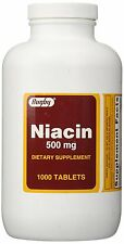 Rugby Niacin Tablets, 500mg, 1000 Tablets