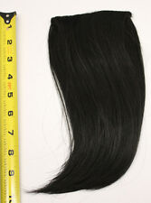 10'' Long Clip on Bangs Natural Black Cosplay Wig Hair Extension Accessory NEW
