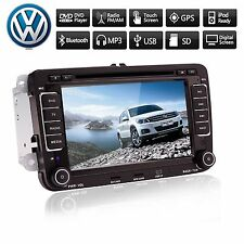 "7"" 2 Din Auto Radio Car DVD Stereo GPS SAT NAV For VW Volkswagen Golf Jetta Pass"