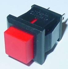 Drucktaster, Mini Taster, viereckig, Schließer, Rot, 250V-0,5A  Marke, S108