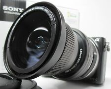 Wide Angle Macro Fisheye lens for Sony Nex a5000 / 6000 3n 5tL HD w/16-50 16mm