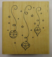3 Baubles / Ornaments Hanging Rubber Stamp