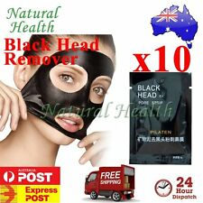 10x Pilaten Blackhead Black Head Remove Pore Cleansing Strip Mask Face Nose Acne