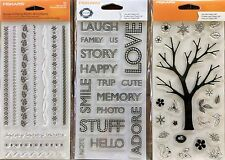 FISKARS Clear cling stamps SET OF 3 STAMPS as pictured - CLEARANCE PRICE
