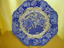 "Spode Jasmine Dessert  Plate 9"" Yellow Blue Scalloped Edge Floral Pattern"