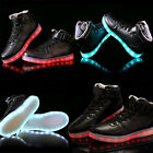 High Top Luminous Shoes USB Charging Led Light Lace Up LED fashion sneaker