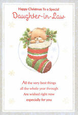 TO A SPECIAL DAUGHTER-IN-LAW CUTE HAPPY CHRISTMAS CARD