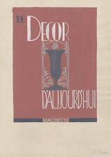"""""""LE DECOR D'AUJOURD'HUI"""" Maquette gouache sur papier originale J. PIGEON 32x50cm"""