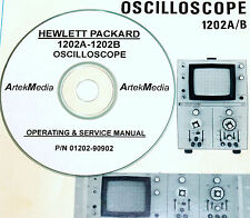 HP 1202A 1202B Oscilloscope,  Operating & Service Manual