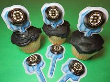 12 Boston Bruins NHL Hockey Cupcake Rings Toppers Decorations Party Favors