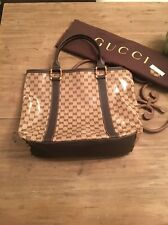 AUTHENTIC GUCCI GG CRYSTAL LARGE BAMBOO TOTE BAG